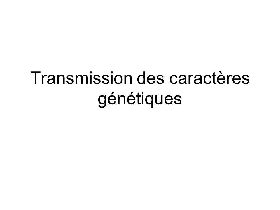 Transmission des caractères génétiques