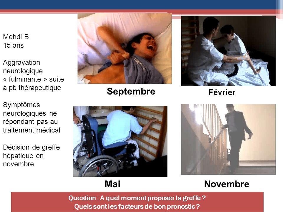 Septembre Mai Novembre Février Mehdi B 15 ans