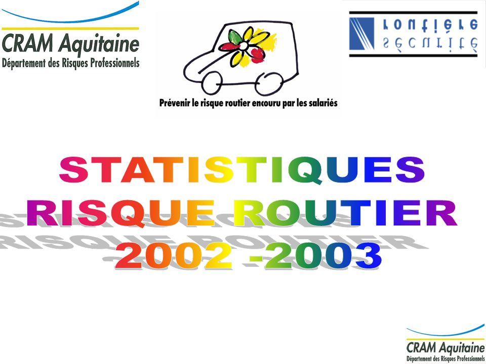 STATISTIQUES RISQUE ROUTIER 2002 -2003