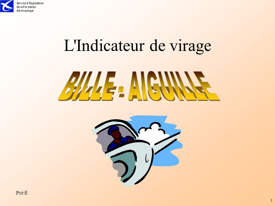 L Indicateur de virage BILLE - AIGUILLE