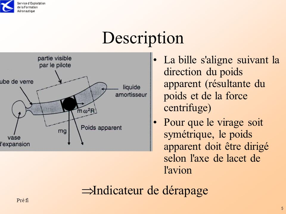 Description Indicateur de dérapage