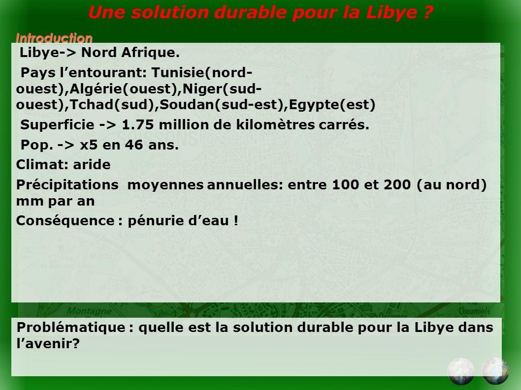 Une solution durable pour la Libye