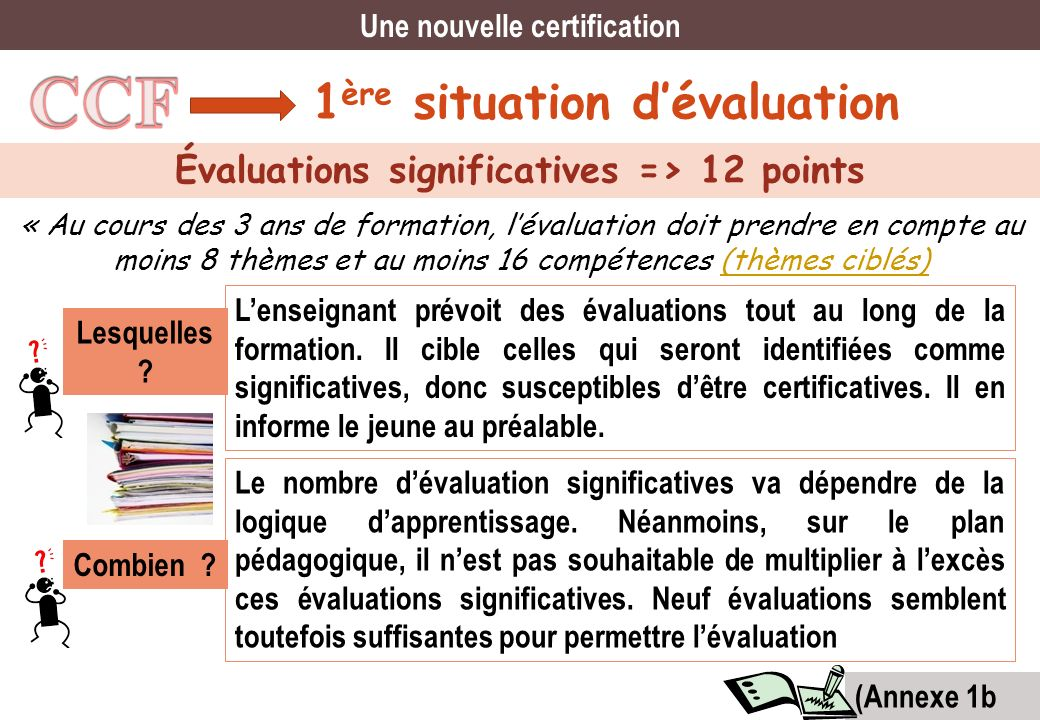 Une nouvelle certification Évaluations significatives => 12 points