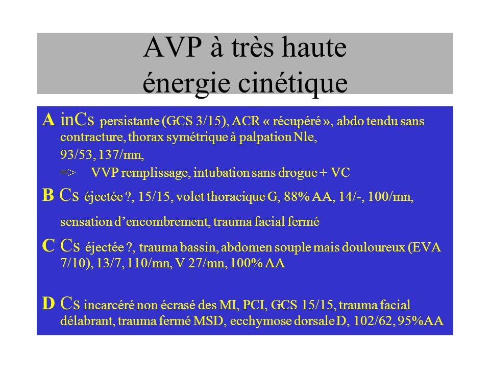 AVP à très haute énergie cinétique