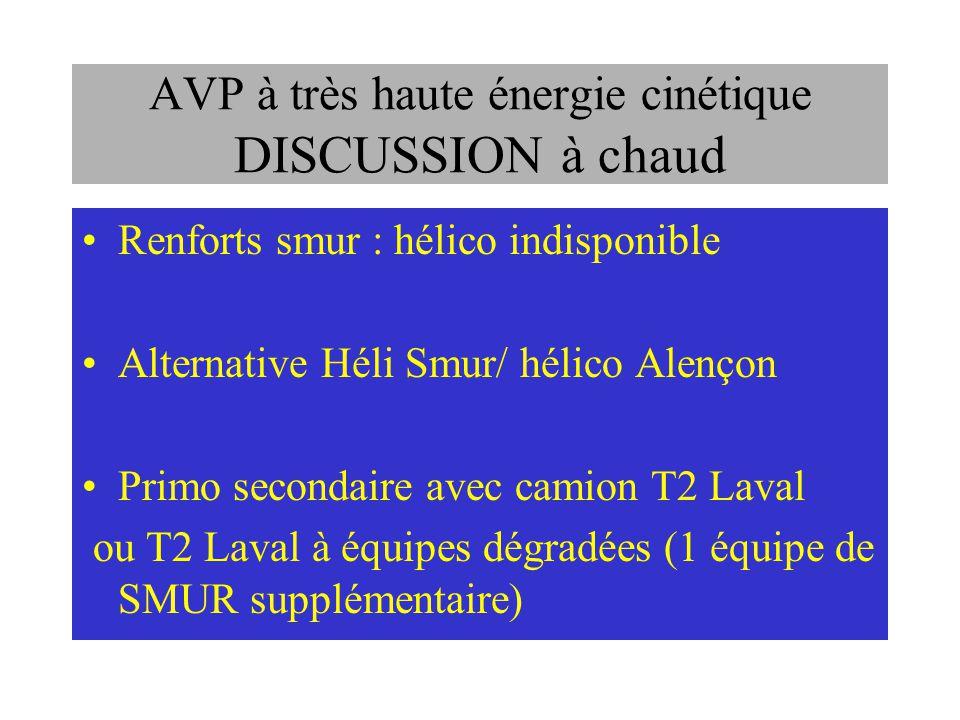 AVP à très haute énergie cinétique DISCUSSION à chaud