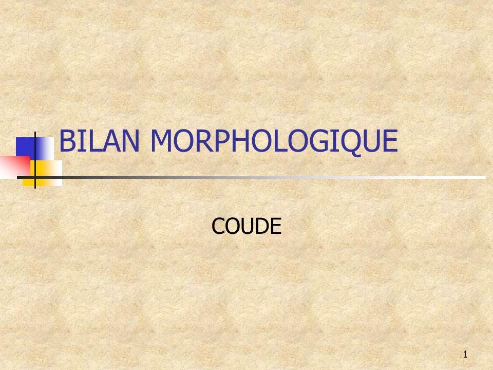 BILAN MORPHOLOGIQUE COUDE