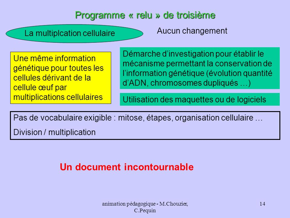 Un document incontournable