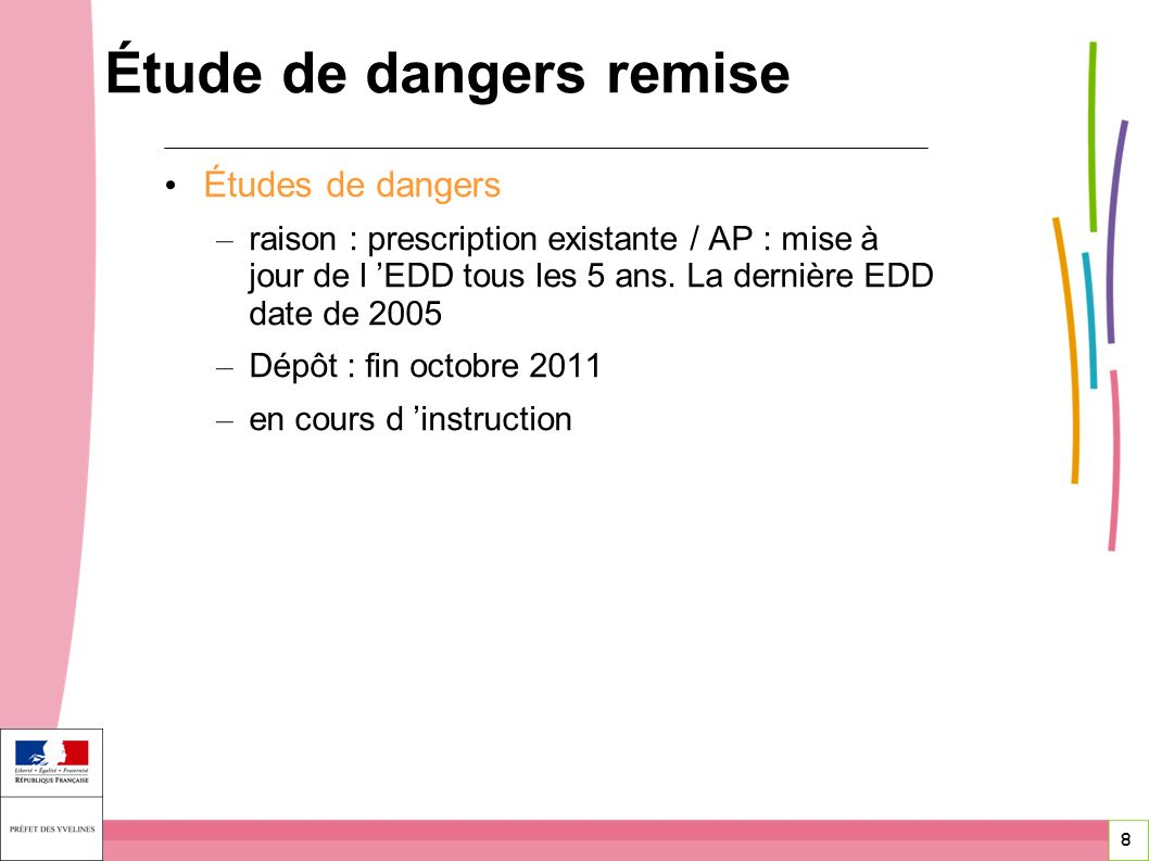 Étude de dangers remise