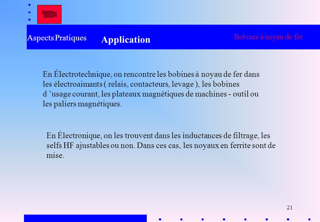 Application Aspects Pratiques