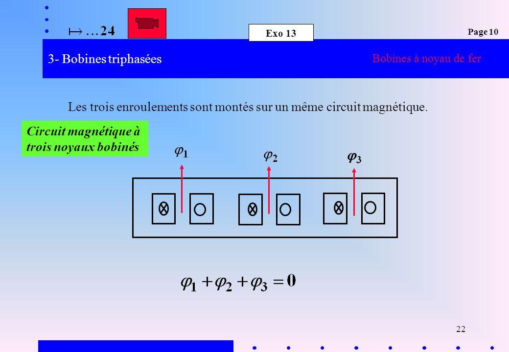 Les trois enroulements sont montés sur un même circuit magnétique.