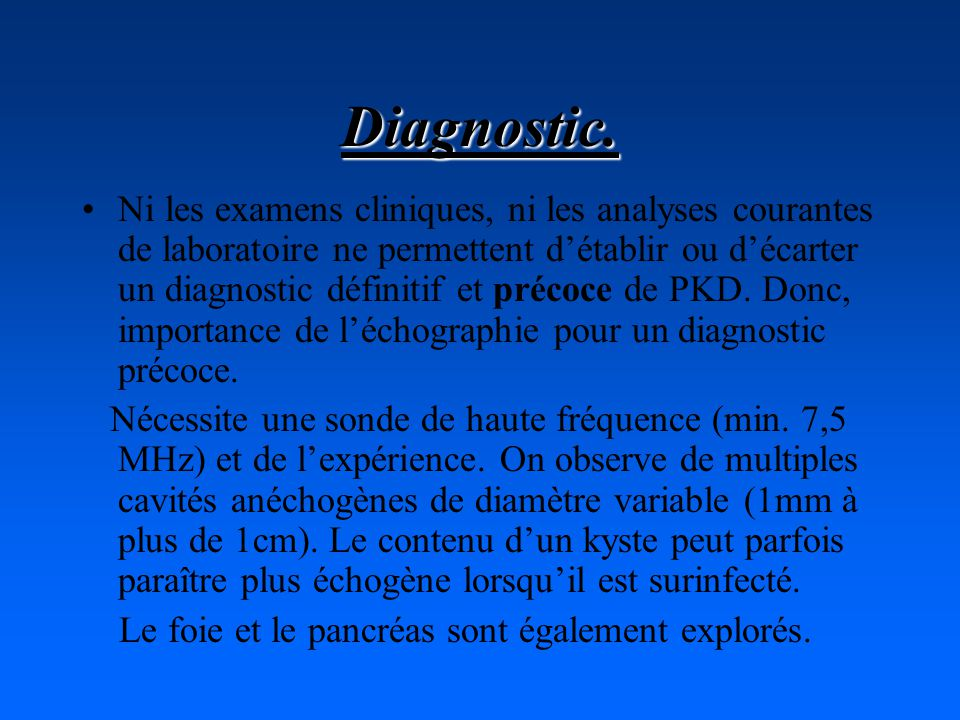Diagnostic.