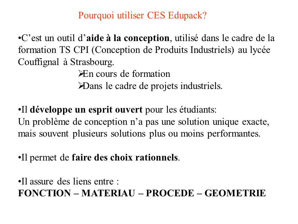 Pourquoi utiliser CES Edupack