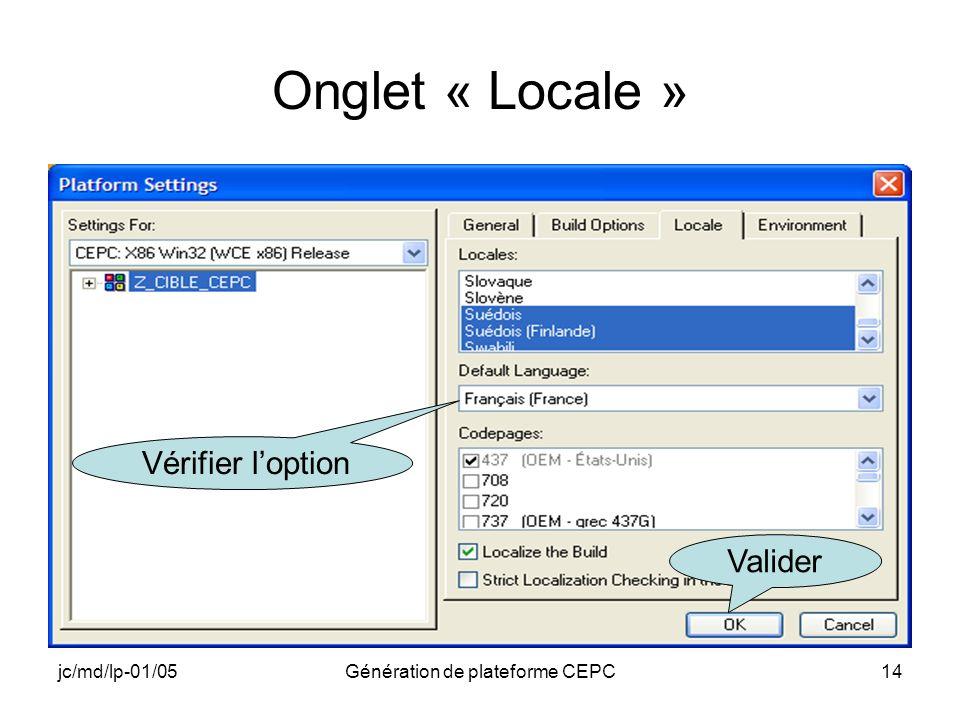 Génération de plateforme CEPC