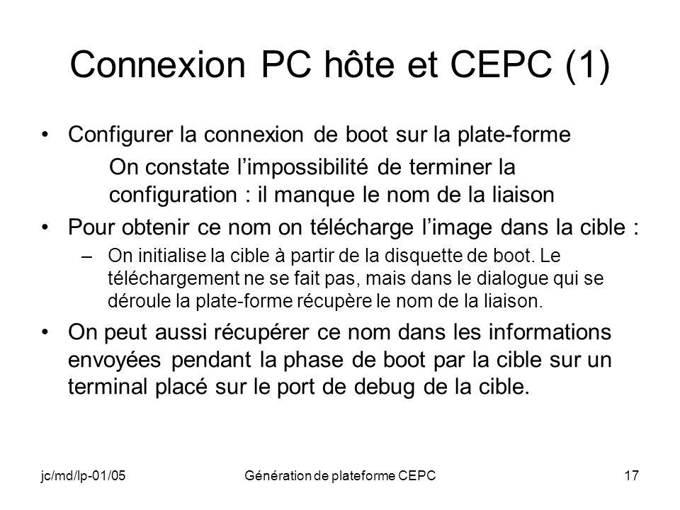 Connexion PC hôte et CEPC (1)