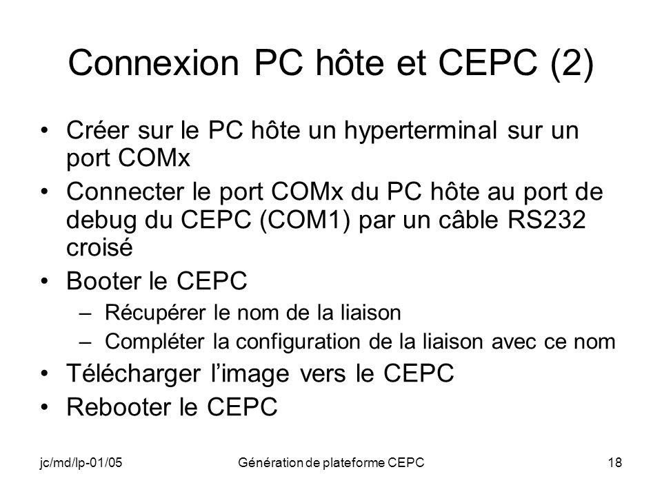 Connexion PC hôte et CEPC (2)