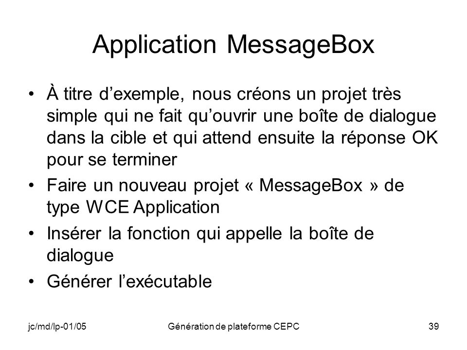 Application MessageBox