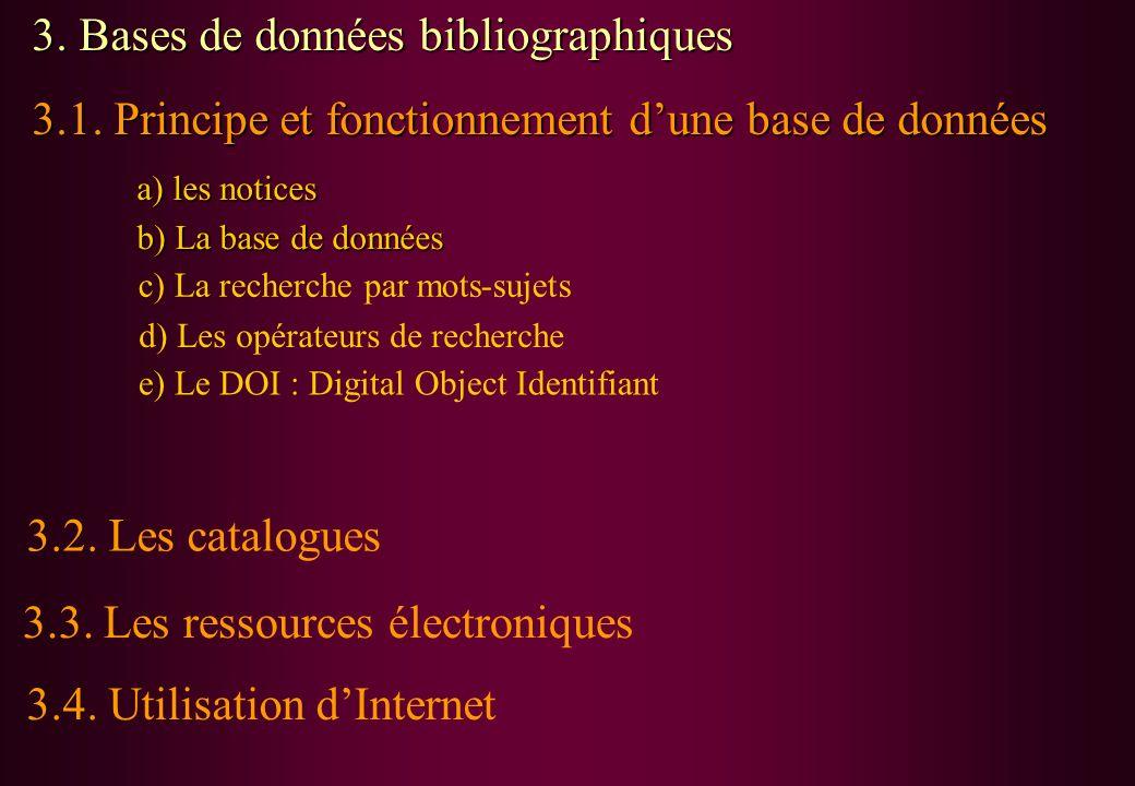 3. Bases de données bibliographiques