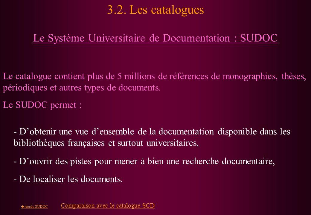 Le Système Universitaire de Documentation : SUDOC