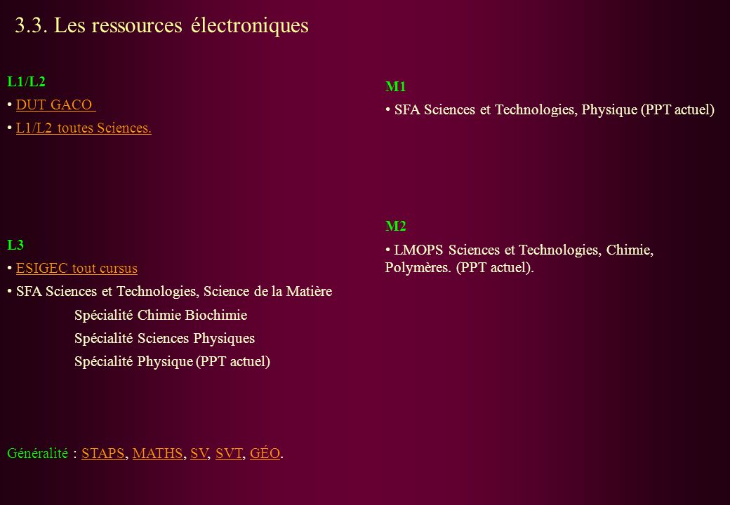 3.3. Les ressources électroniques