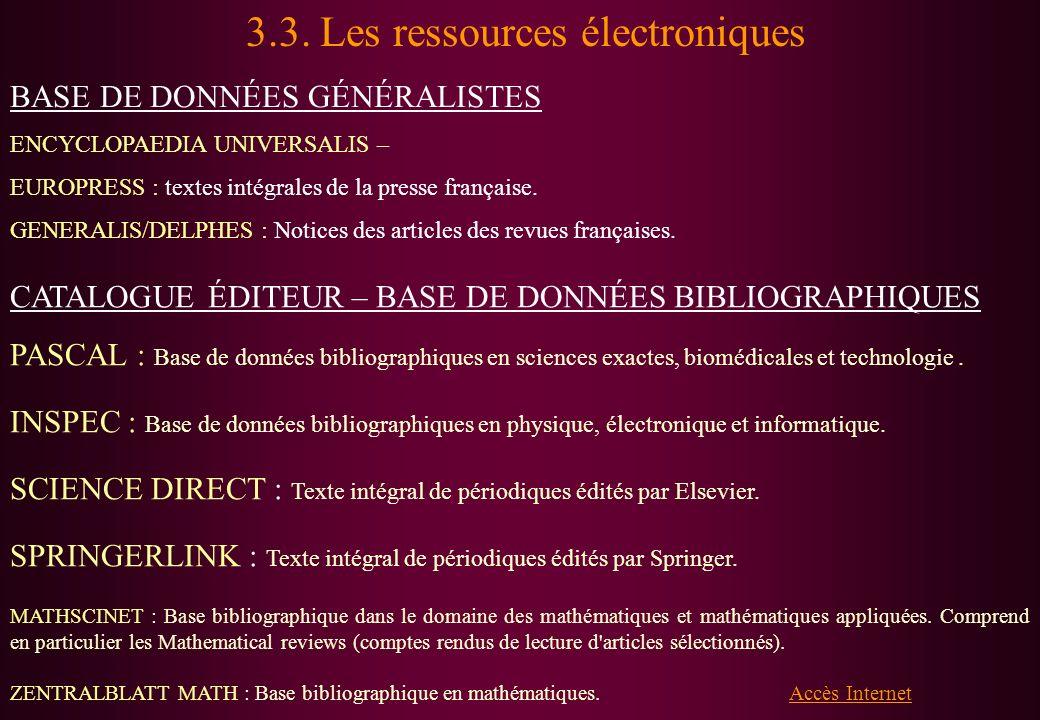 Lire la diapositive (qui doit être adaptée à chaque discipline)