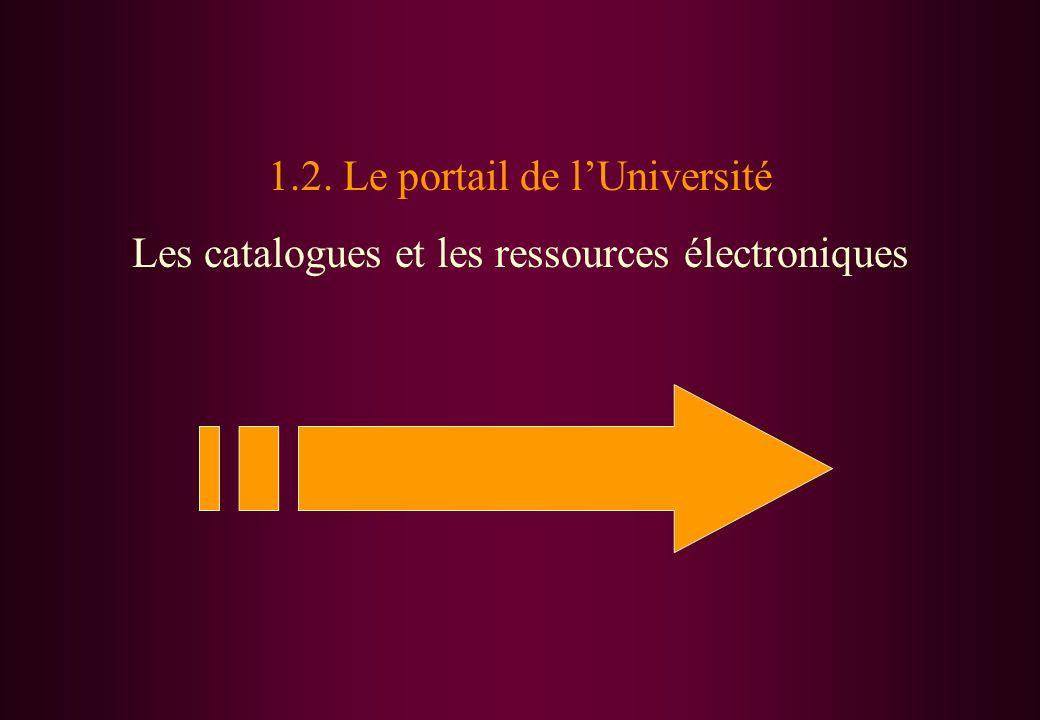 1.2. Le portail de l'Université