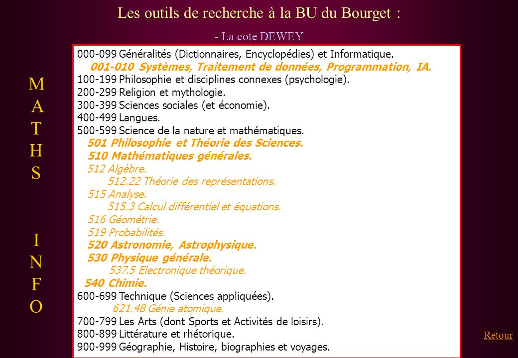 Les outils de recherche à la BU du Bourget :