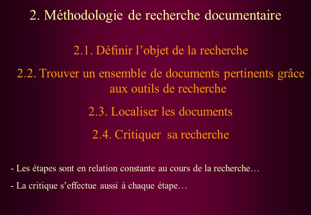 3) L'importance de la critique.
