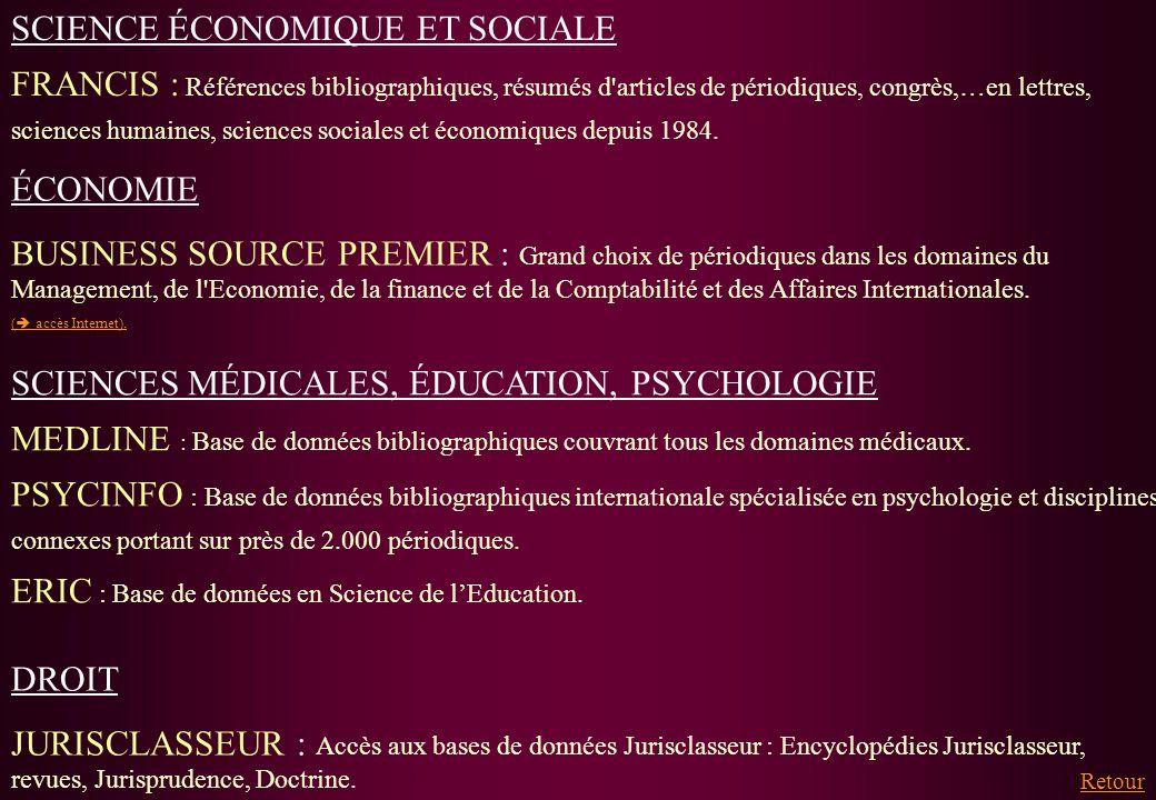 SCIENCE ÉCONOMIQUE ET SOCIALE