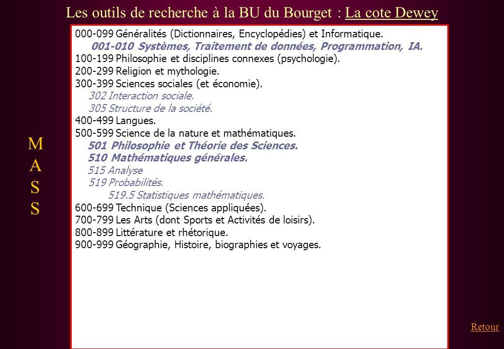 Les outils de recherche à la BU du Bourget : La cote Dewey
