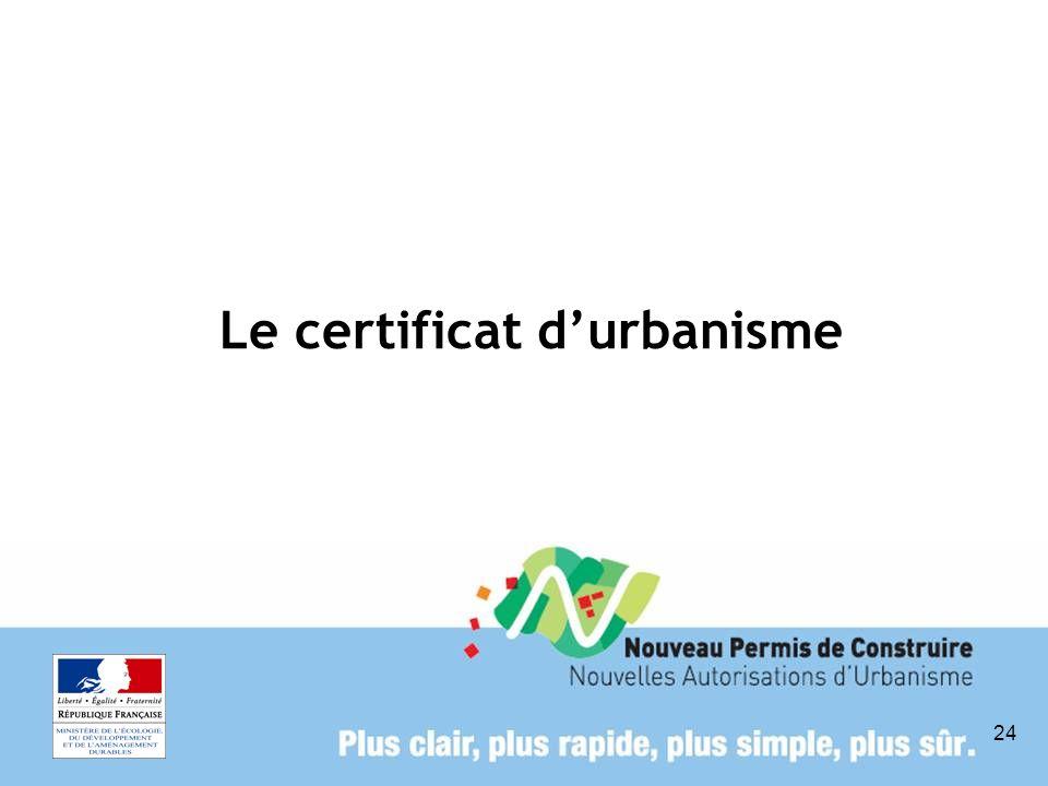 Le certificat d'urbanisme