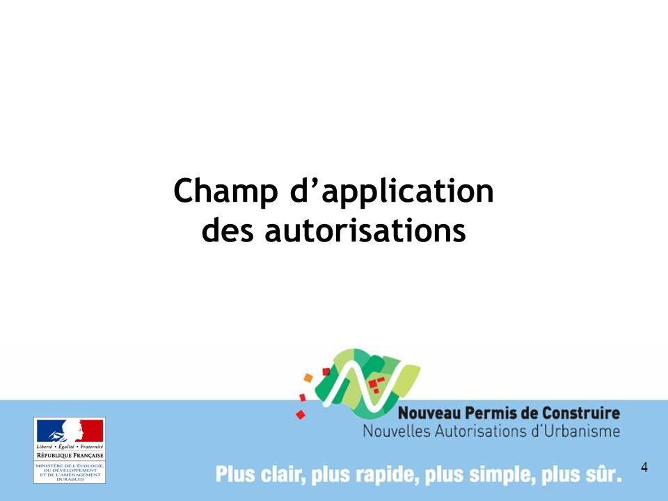 Champ d'application des autorisations