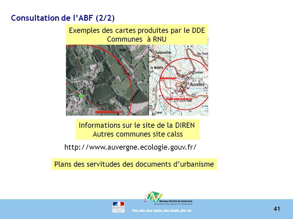 Consultation de l'ABF (2/2)