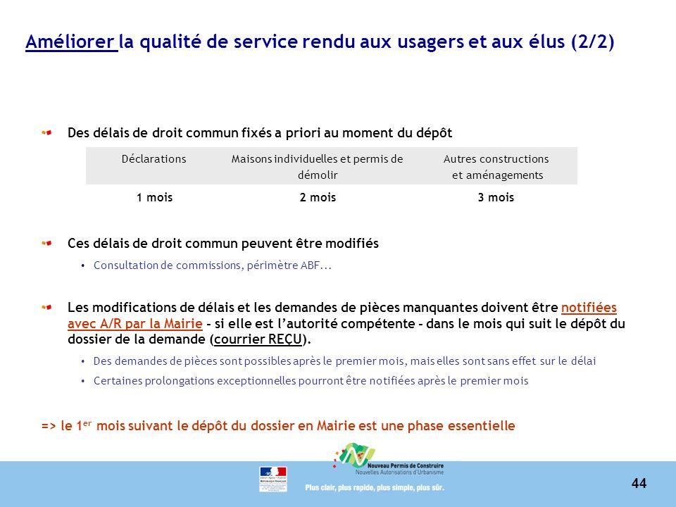 Améliorer la qualité de service rendu aux usagers et aux élus (2/2)