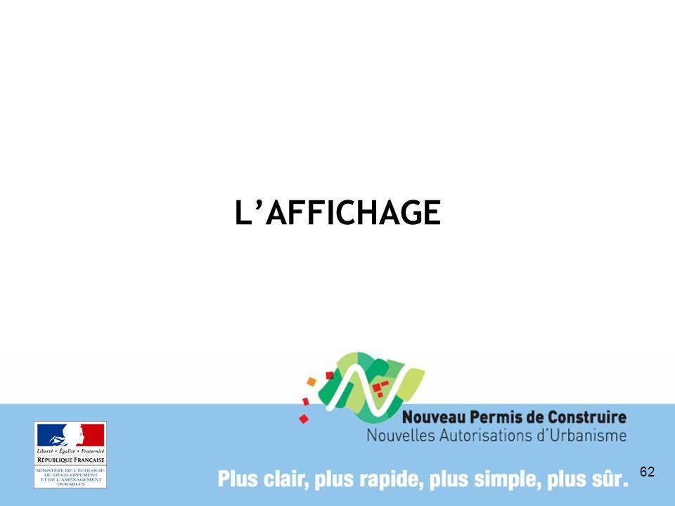L'AFFICHAGE