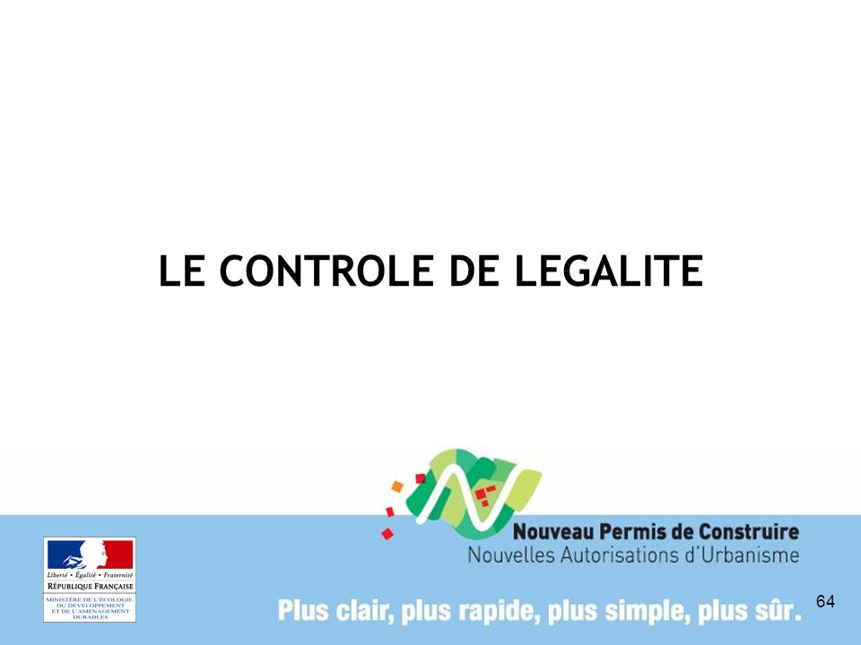 LE CONTROLE DE LEGALITE