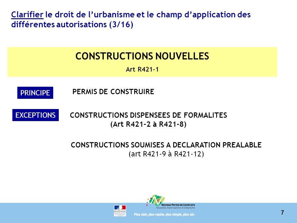 CONSTRUCTIONS NOUVELLES