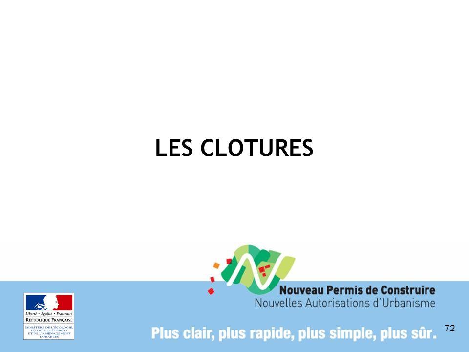 LES CLOTURES