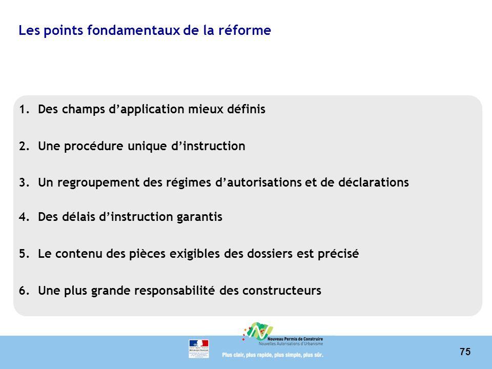 Les points fondamentaux de la réforme