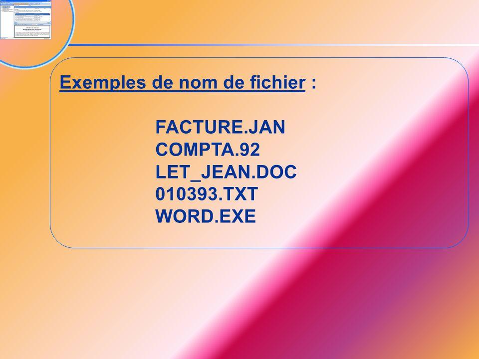 Exemples de nom de fichier :