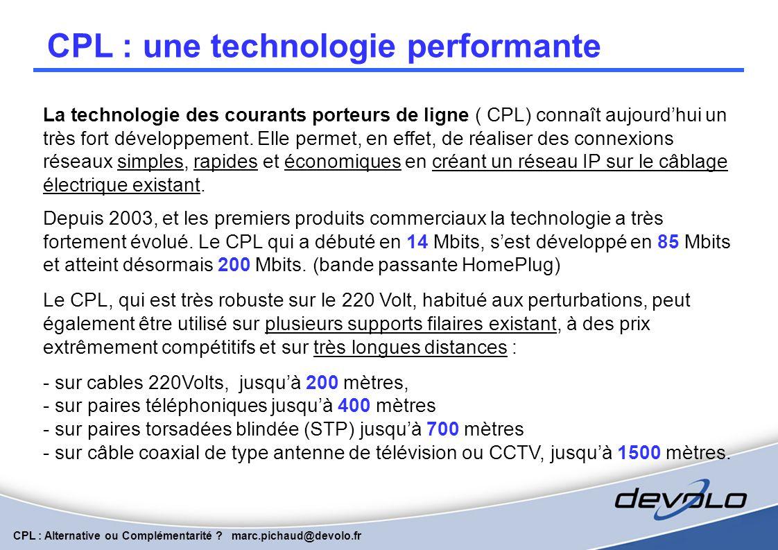 CPL : une technologie performante