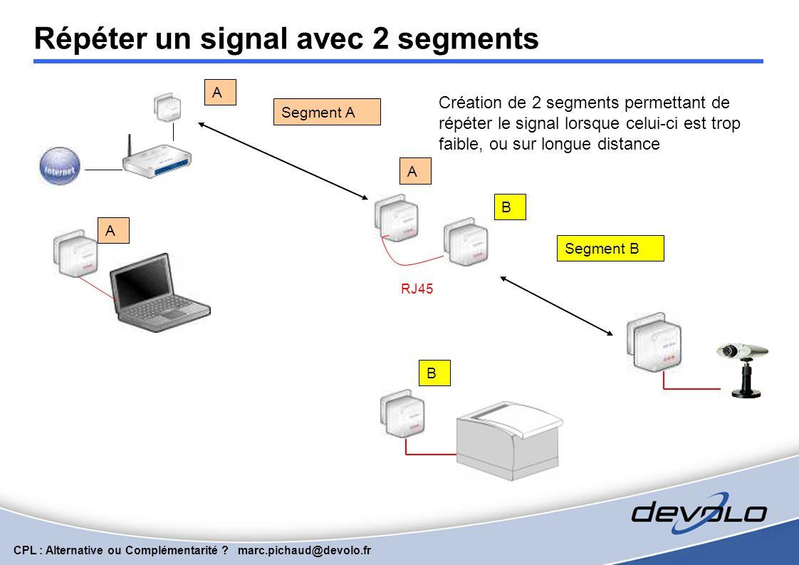 Répéter un signal avec 2 segments