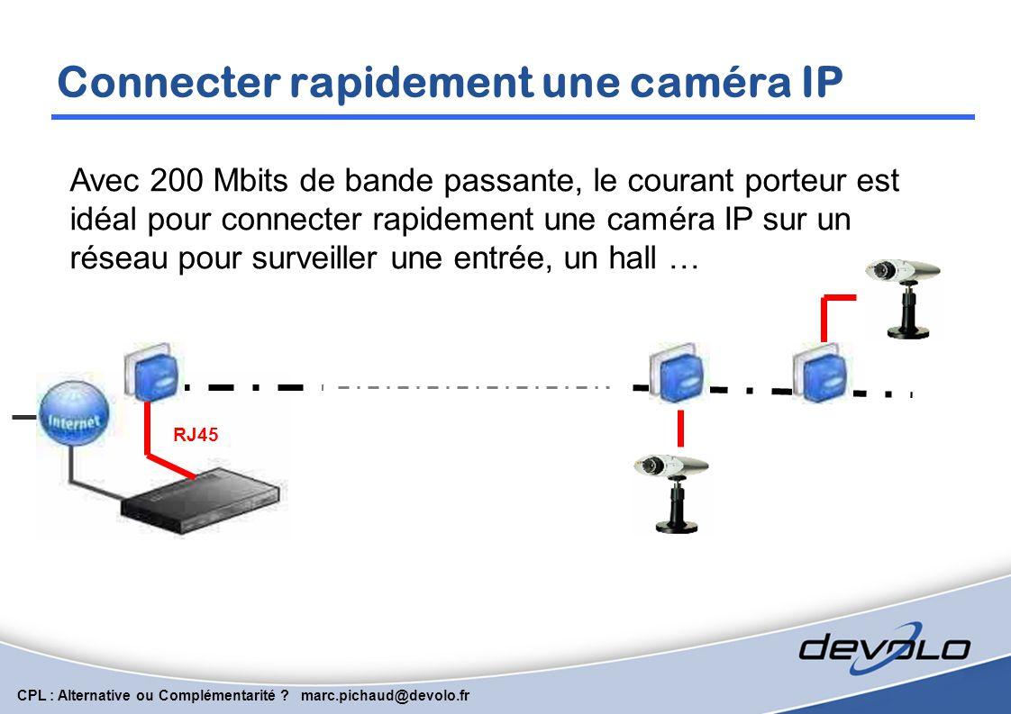 Connecter rapidement une caméra IP