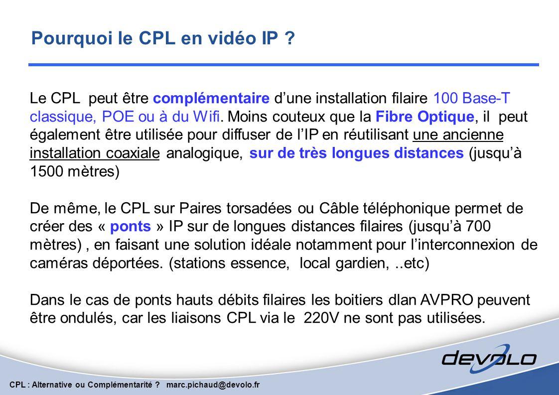 Pourquoi le CPL en vidéo IP