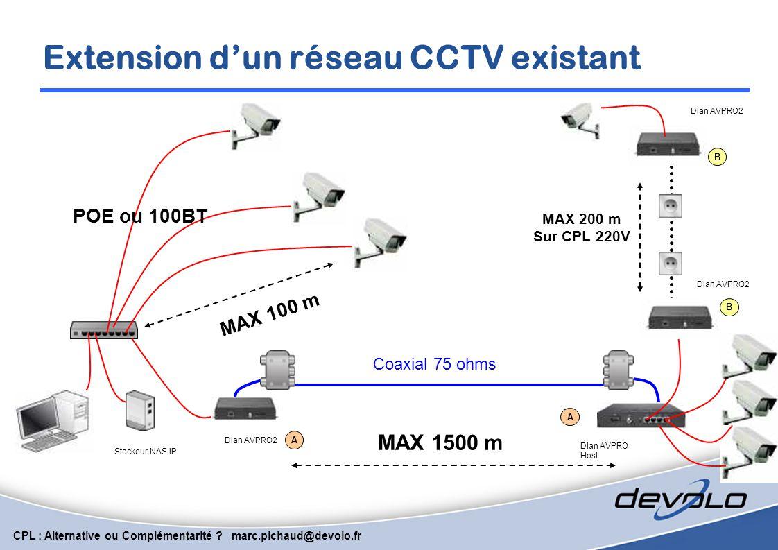Extension d'un réseau CCTV existant