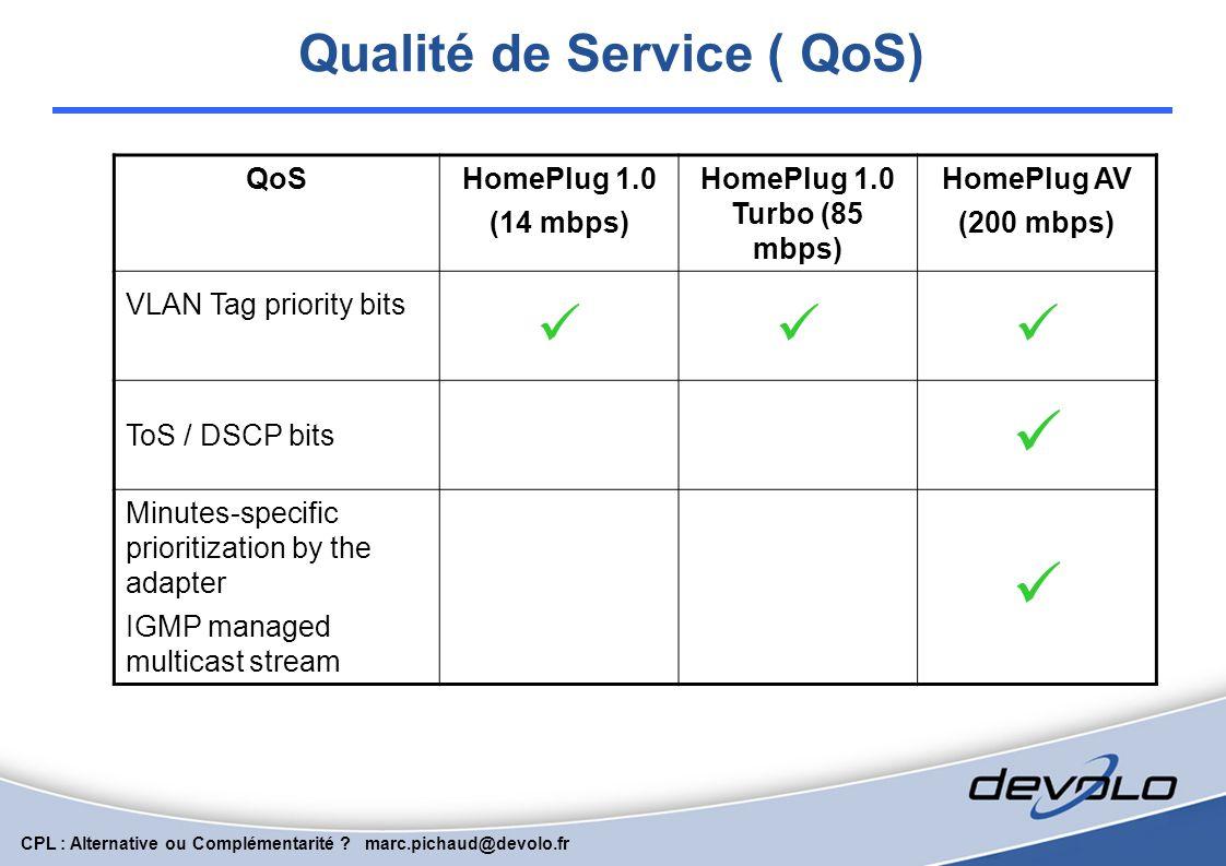 Qualité de Service ( QoS)