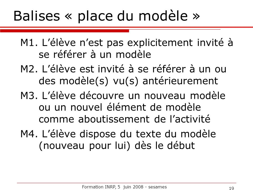 Balises « place du modèle »