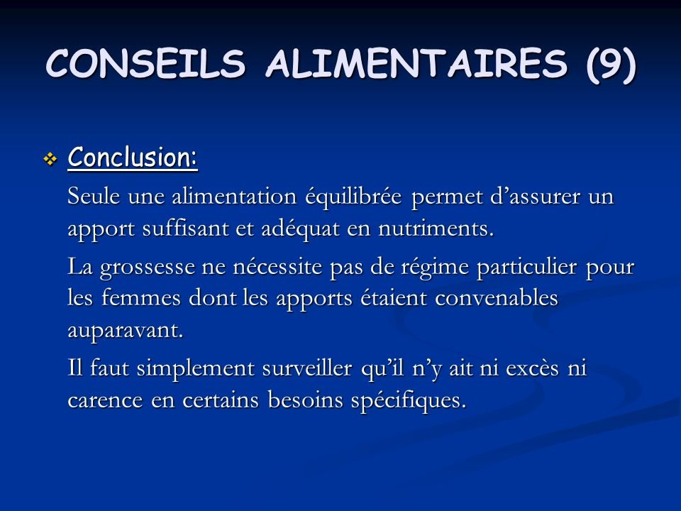 CONSEILS ALIMENTAIRES (9)