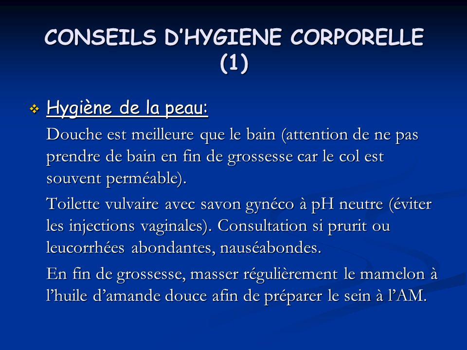 CONSEILS D'HYGIENE CORPORELLE (1)