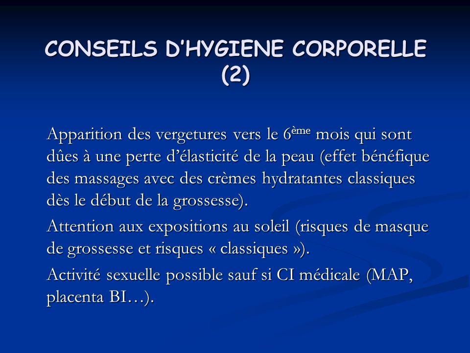 CONSEILS D'HYGIENE CORPORELLE (2)