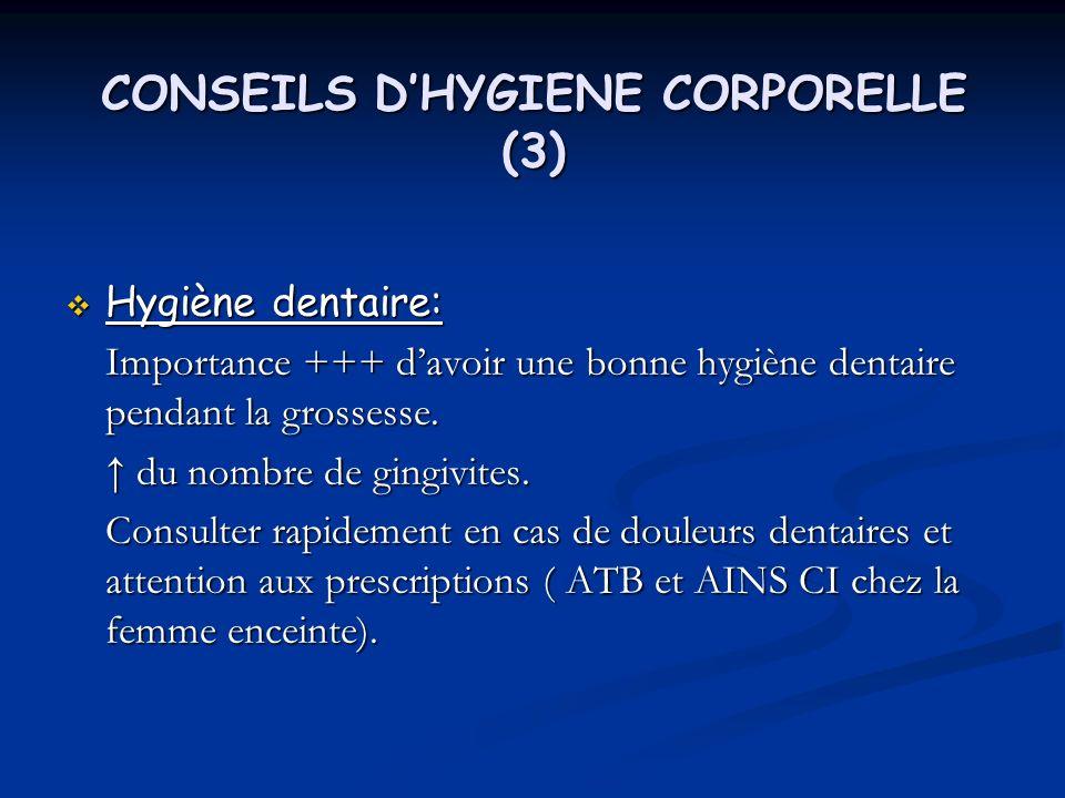 CONSEILS D'HYGIENE CORPORELLE (3)
